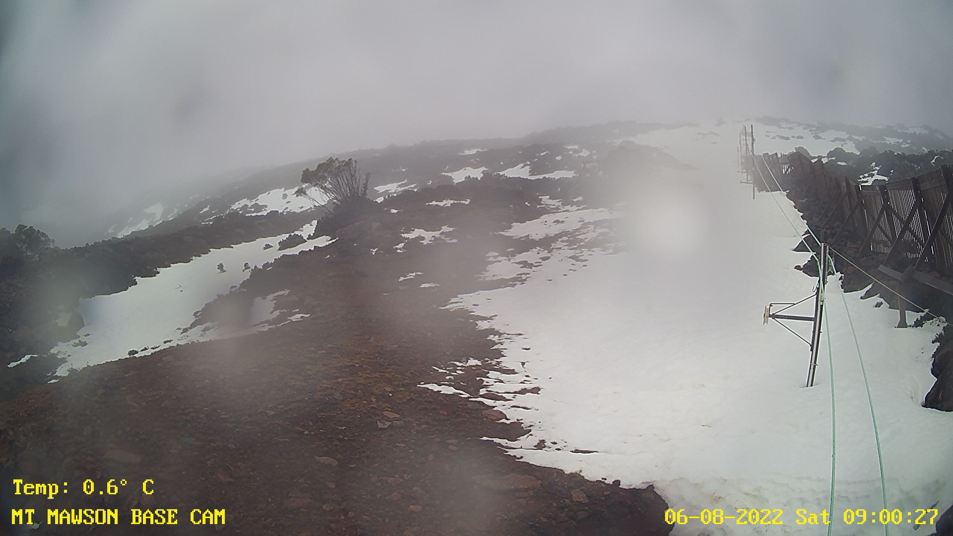 latest image from the mount mawson base cam