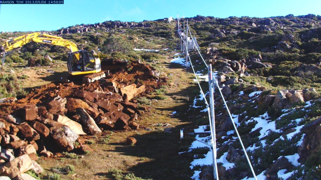 image of Slope work under way
