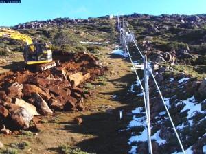 image of Slope work under way