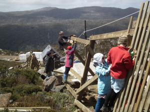 New Snow Fence construction- Nov 2013