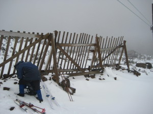 Snow fences at Mt Mawson