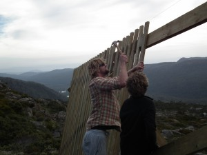Tom Summers nails it - Mawson snow fence