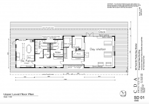 Floor Plan for proposed  Alpine Visitors Centre for the Mount Mawson Ski Field and the TWWHA