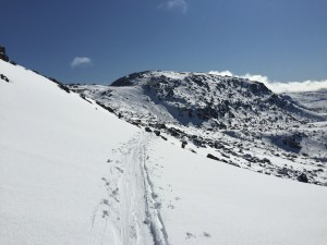 Traverse toward Rodway range and the Rodway tow