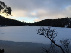 Lake Dobson - A peaceful end to another great weekend at Mt Mawson Ski Field