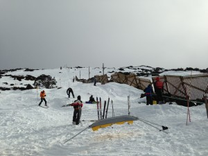 Ski Patrol keep a watchful eye on the action