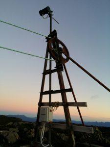 New STSA Summit Camera at Mt Mawson - elevation 1320 m