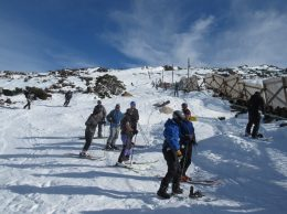 Skiers at Mawson Tow 2016
