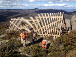 Mawson Snow Fence repaired - for the second time!