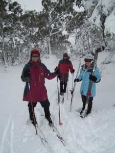 Cross country skiing on Jeep Trail