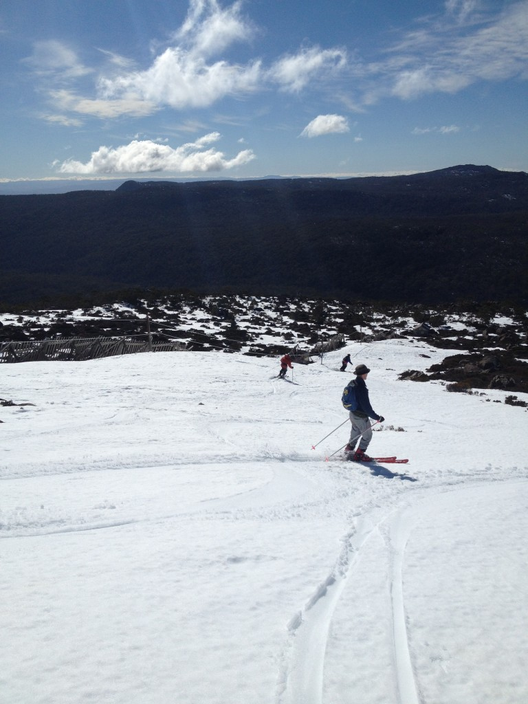 Image of George skiing on Mount Mawson